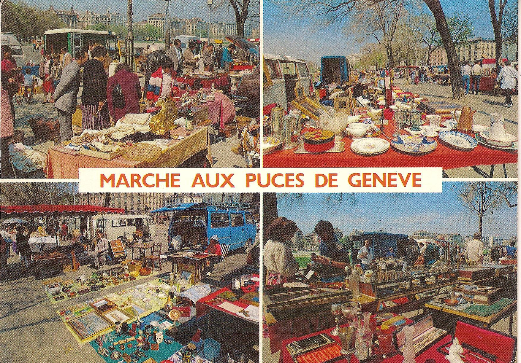 Marché aux puces de Plainpalais en 1980